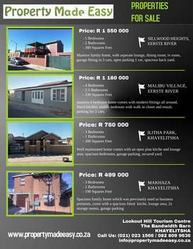 CHOOSE YOUR PROPERTY - ALL PROPERTIES PRICED TO SELL