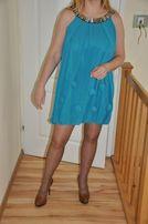Turkusowa sukienka bombka