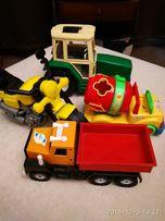 Набор. Трактор, мотоцикл, бетономешалка, грузовик