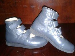 Детские кожаные ортопедические Туфли Ботинки