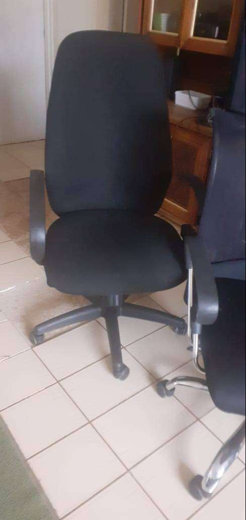 Material high office chairs on wheels