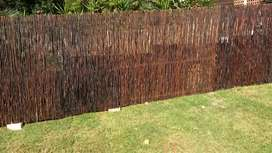 Bamboo and wood fence