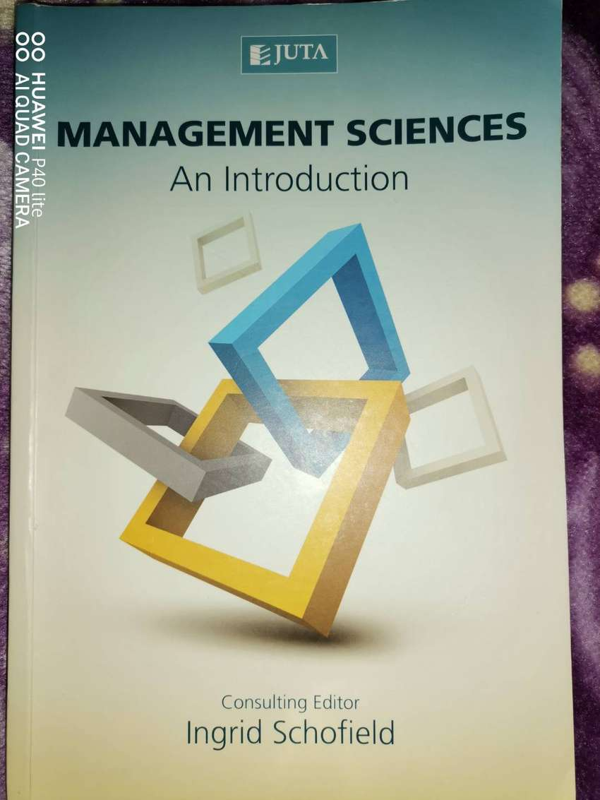 Management science an introduction consulting editor Ingrid Schofield