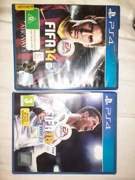 Fifa 14 and 18 PS4 games