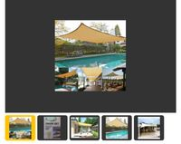 Sjenilo-Shade za terasu, bazen, dvorište 3.6 x 3.6  Otporno na UV zrak 0