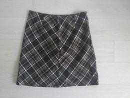 Теплая юбка-шотландка а-силуэта