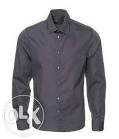 Klasyczna i elegancka szara koszula męska rozm. 39 stan idealny.