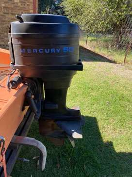 Used 4 Cylinder 50 hp Mercury with controls and steering cable