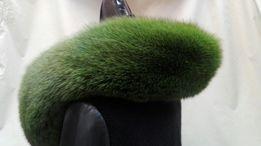 Obszycie naturalne z lisa soczysta zieleń