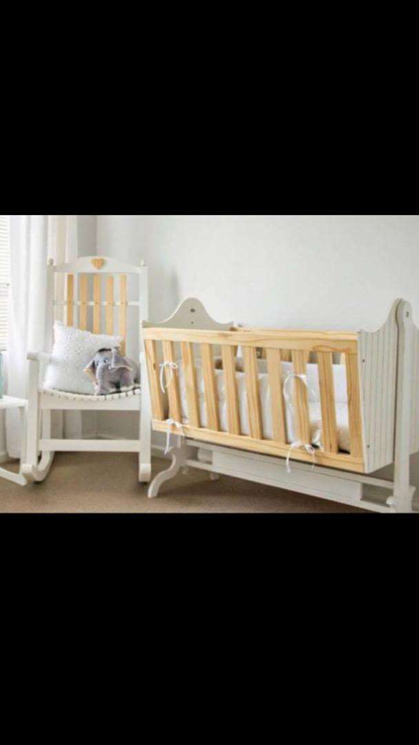 Baby crib/cot and rocking chair set 0
