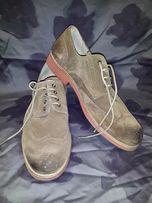 Замшевые мужские туфли KAPORAL (куплены во Франции)