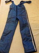Теплый высокий комбинезон - штаны лыжные на подтяжках. Рост 170 см