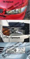 Накладки на фары T4 T5 прямы косые реснички бровки тюнинг Т4 Т5 Арки