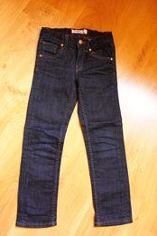 Granatowe chłopięce, dżinsy, jeans w rozmiarze 116.
