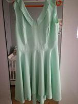 Miętowa sukienka S/M
