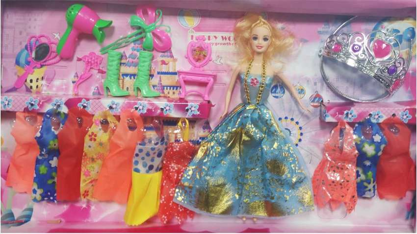 Princess Dress up fashion doll toy Girl Pretend Playing dinky toys 0