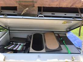 Camp Master Camping trailer with Tentco tent