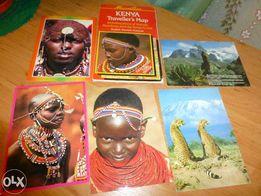 kenya-ksiazka+mapa+pocztowki