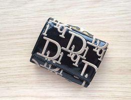 Женский кошелек с монетницей черный (внутри натур. кожа)