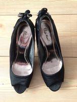 Eleganckie szpilki czarne peep-toe BELLE WOMEN 38 zara massimo dutti