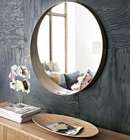 Зеркало, шпон грецкого ореха, 80 см