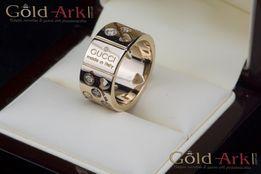 Золотое кольцо GUCCI с бриллиантами