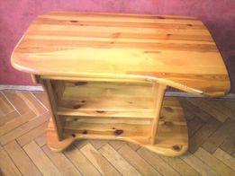 Biurko drewniane sosnowe młodzieżowe pod komputer + fotel biurowy