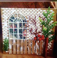 Листівка новорічна, Різдвяна, откритка, хендмейд, ручна робота