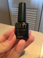 Matt top coat lakier hybrydowy soak-off uv&led