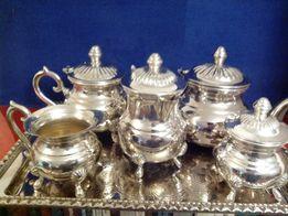 Новый большой, чайно-кофейный сервиз из Алжира 6 предметов
