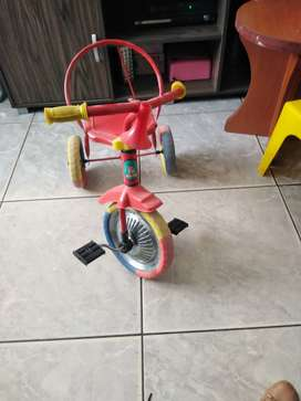 Kids bicycle. It's a Tricycle