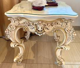 Lo Stile Di Classe Italian Square Table with Hand decorated surface