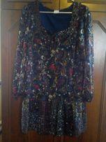 Новое! Темно синее платье