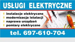 Usługi elektryczne /Naprawa urządzeń /Montaż instalacji