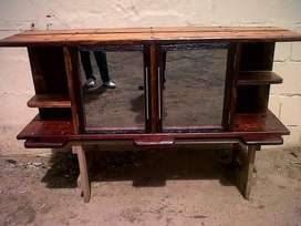 Railway sleeper TV unit and coffee table
