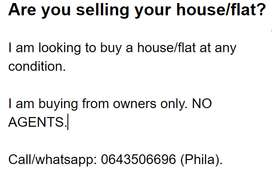 Are you selling your house/flat?