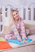 Байковая пижама женская с единорогами