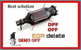 Удаление сажевого фильтра DPF, AdBlue, EGR