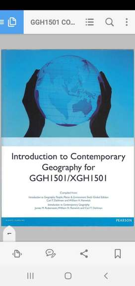 Introduction to contemporary Geography textbook GGH1501/XGH1501