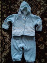 Продам теплый, вязаный костюм. Возраст от 3х месяцев.