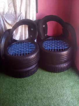 I have a project which we make chairs with old tyres