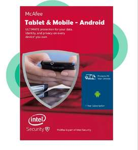 Mcafee 2020 Android tablet & mobile internet security 12 Months (New)