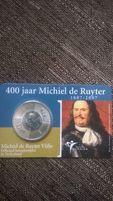 Монета, серебро 5 евро.