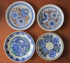 Zestaw porcelanowych talerzyków / ręcznie malowane / Polska