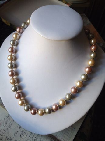 Naszyjnik kolia korale - sztuczne perelki w pasteliowych colorach. Sulejówek - image 1