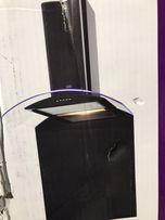 Okap kuchenny 60 cm Czarny LED ze SZKŁEM
