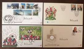 4 x First Day Covers containing Nelson Mandela'S signature