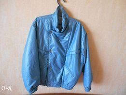 Куртка стильная синяя недорого на кнопках и молнии