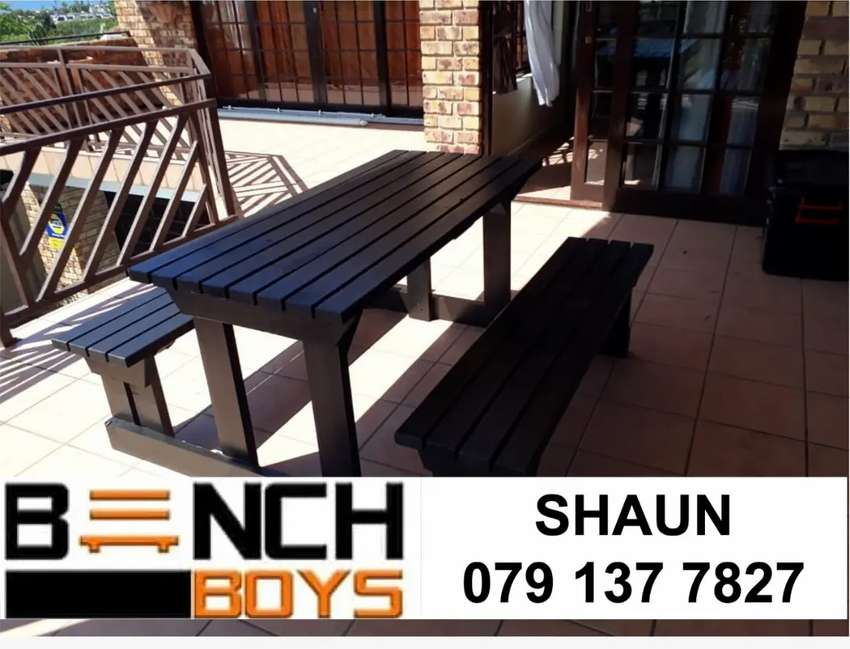 Canteen, carwash and restaurant benches