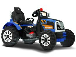 Duży Traktor na akumulator 2 silniki 2 biegi 90Watt P113 Traktorek